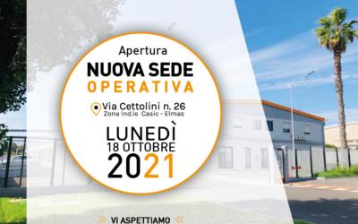 Apertura nuova sede operativa: Vi aspettiamo dal 18/10/2021